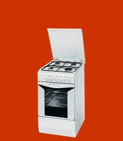 Indesit K3g5 A W Kuchnia Gazowo Elektryczna Wolnostojaca 85x50x60cm