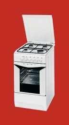 Indesit K3g5 W Kuchnia Gazowo Elektryczna Wolnostojaca 50cm