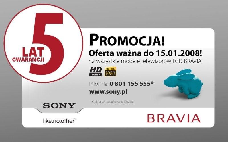 5 lat Gwarancji na telewizory Bravia